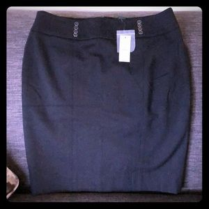 White House black market black skirt size 10 NWT